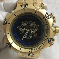 Mens Watches Luxury Brand Design Golden Waterproof Quartz Watches For Men Sport Male Gold Wristwatches Relogio Dourado Masculino