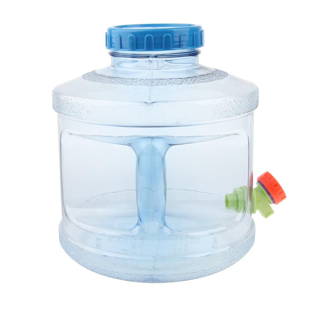 OMZGXGOD Contenedor de Agua Plegable port/átil 1 Paquetes con Grifo,Grado alimenticio PE Contenedor Agua Almacenamiento Plegable Cubo Botella El Cubo 5L