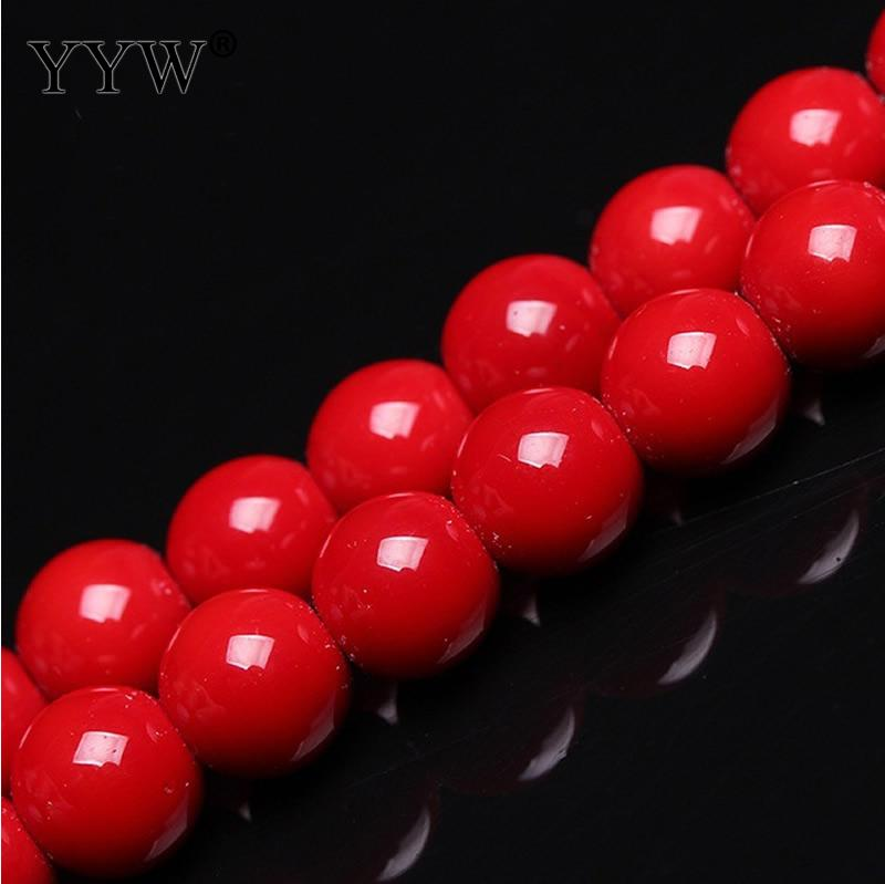 2018 Hot Sale <font><b>Red</b></font> <font><b>Coral</b></font> 4mm 6mm 8mm 10mm <font><b>Red</b></font> <font><b>Coral</b></font> Beads Round Loose Beads For Diy Jewelry Bracelet Necklace Making Accessories image
