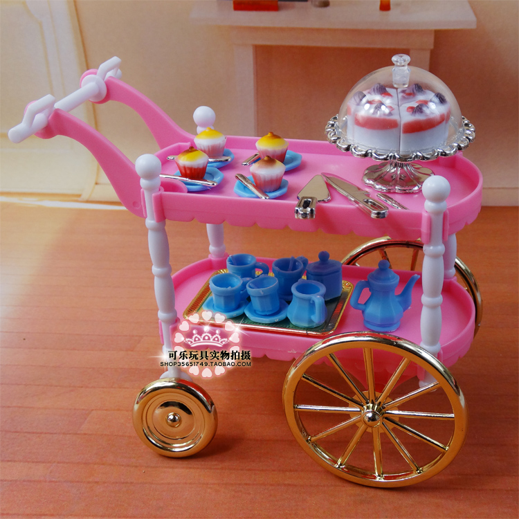 Ыстық сатылымдар Doll Furniture Dining Cake Car Accessories for Barbie Ken Doll Kids Play Toys Girls Birthday Gift Free Shiping