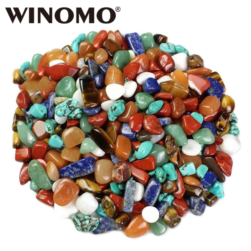 WINOMO 1 Bag Crystal Quartz Yellow Agate Tigers Eye Turquoise Red Agate Aventurine Lapis Lazuli For Art Craft Projects