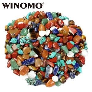 WINOMO 1 bolsa de cristal de cuarzo amarillo ágata tigres ojo turquesa rojo ágata Aventurina lapislázuli para proyectos de arte