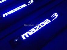 Excelente LED umbral de acero inoxidable umbrales de las puertas para Mazda 3 de segunda generación Mazda 2010 3 S Grand Touring LED light