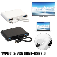 USB C HDMI VGA Adapter Type C to HDMI 4K Thunderbolt 3 for Samsung Galaxy S8 Huawei Mate 10 For Xiaomi Air USB C HDMI