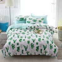 Ensemble de literie Reine taille 4 pc housse de Couette Twin-set Complet taille Polyeter Couette De Textile De Maison En Gros Cactus vert rose