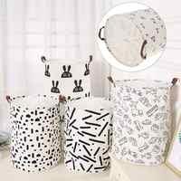 Folding Laundry Basket Drawstring Dirty Clothes Storage Box Large Capacity Toys Clothing Washing Bag Waterproof Laundry Basket
