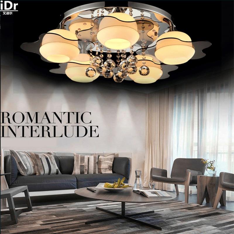 Das Neues Angebot Wohnzimmer Lampe Led Kristall Schlafzimmer Gemtliches Restaurant Lichter Runde Deckenleuchten