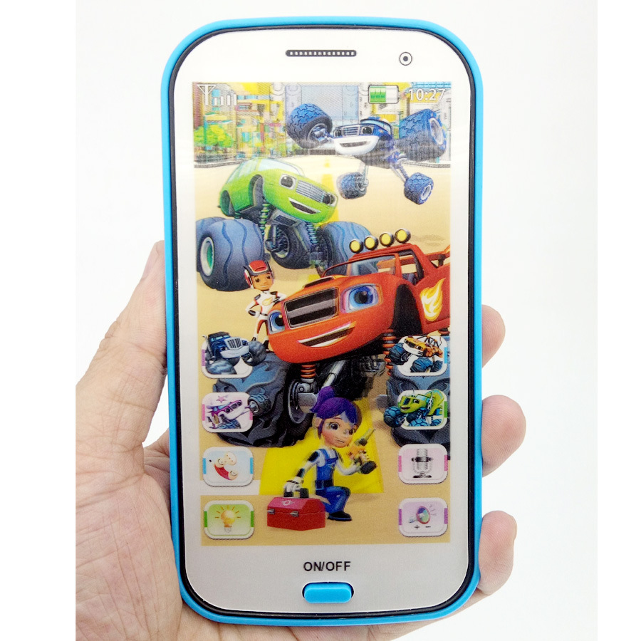 Monster Machines Phone Toys And Robot Monster Russian Light Music Touch Mobile Learn Machines Gift For Children Free Shopping