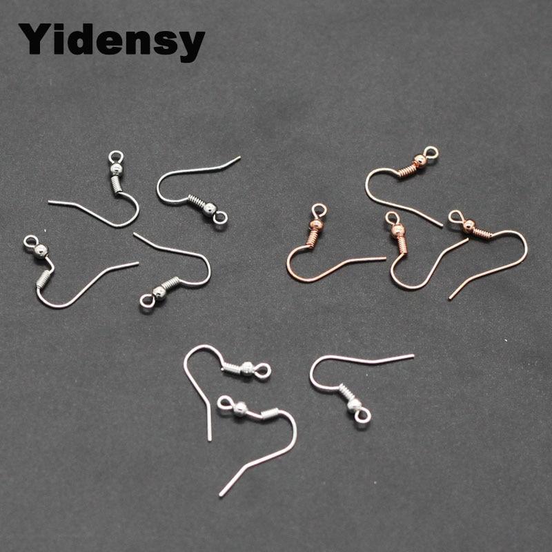 Yidensy 100pcs Wire Earring Hooks Fashion Iron Ear Hook