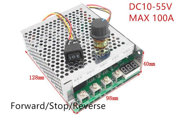 DC Bürstenmotor Drehzahlregler DC 12 V 24 V 36 V 48 V 5500 Watt Hochleistungs 100A Reversible Motor controller