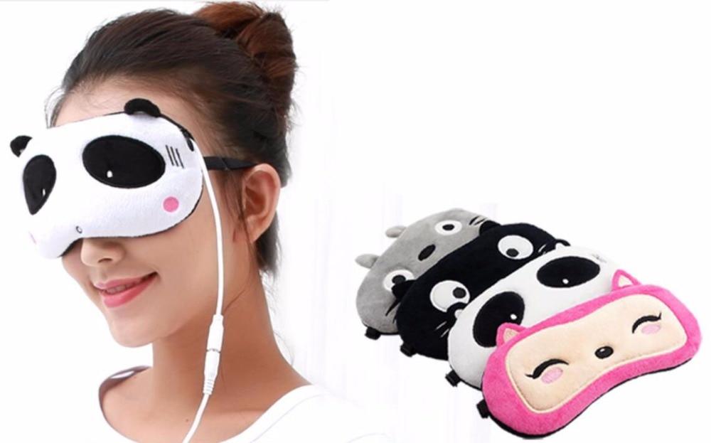 Cartoon cute febrile eye mask sleep steam heating to relieve the black eye eye fatigue USB lovely travel nap cartoon crown long eyelashes eyeshade sleep mask