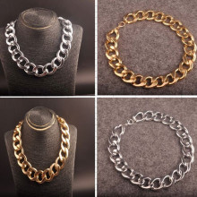 New exaggerated CCB thick chain in Europe and the popular hip hop big jewelry DJ stage long clavicle necklace
