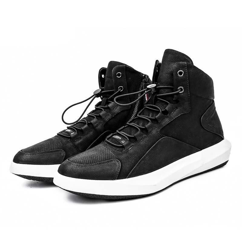 Beige Mode Automne SportFaits Main Bottes pu Cuir Respirant Hiver Rétro Chaussures Sneaker Hommes De noir bleu Ciel Britannique En Nouveau 5AR34jLq