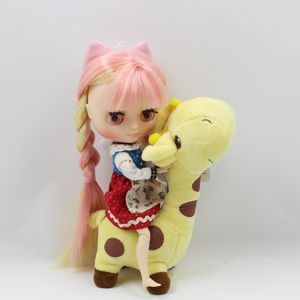 ICY Middie Doll Yellow Pink Hair Jointed Body 20cm 1