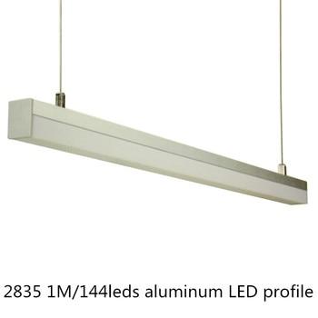 2 قطع 2835/5050 مواسير ألومنيوم للمبات الليد 1 متر 168/120 المصابيح led مصباح بار ، 12 فولت/220 فولت/110 فولت أدى مصباح أنبوبي من حجرة خزانة المطبخ