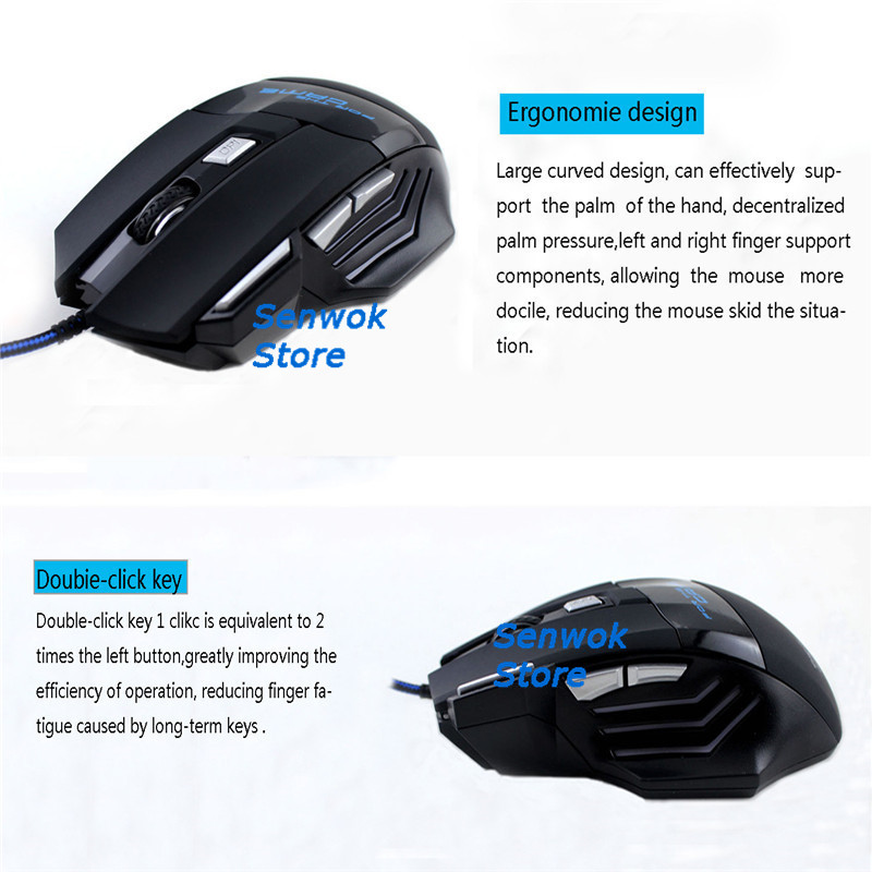 hot selling new cheap 7d wired usb optical gaming mouse led backlit mice 7 keys gamer pc optical computer mice gaming mouse in Mice from Computer Office