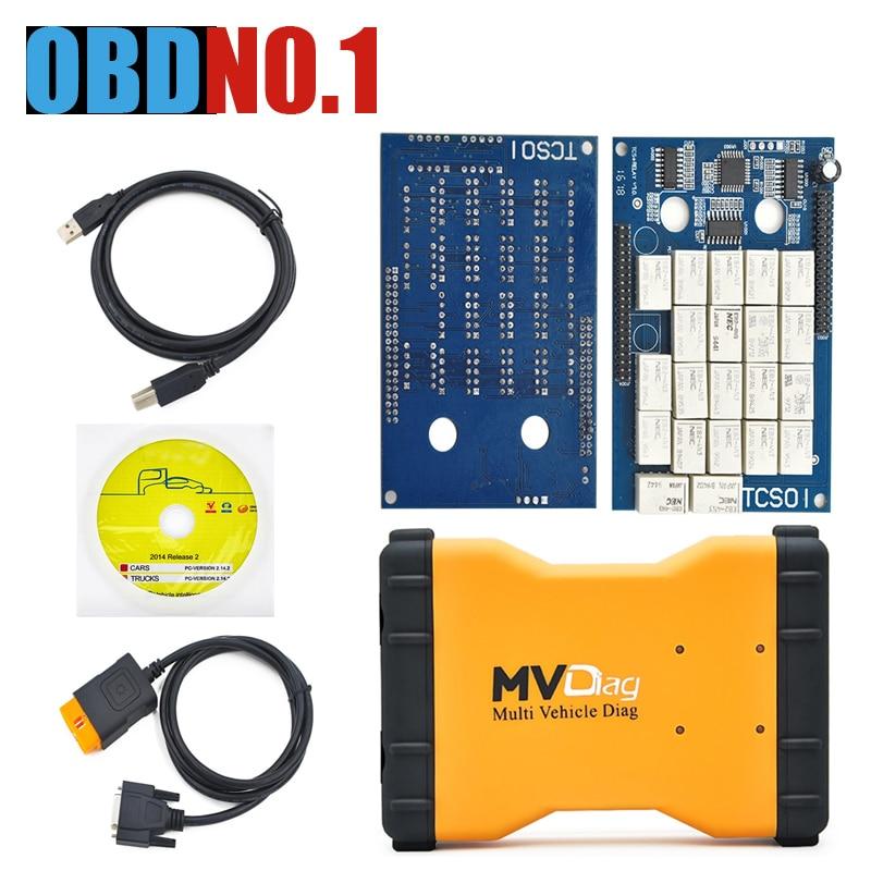 imágenes para ZOLIZDA MVDiag 5.008 r2 Mismo como TCS CDP Multidiag Pro LED COCHE + CAMIONES + Generic 3 EN 1 con Bluetooth MVD 2014. R2/R3 En venta