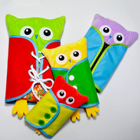 4pcs Set Baby Toy Montessori Dress Frame Zip Snap Button Buckle Lace Tie Toys Early Education