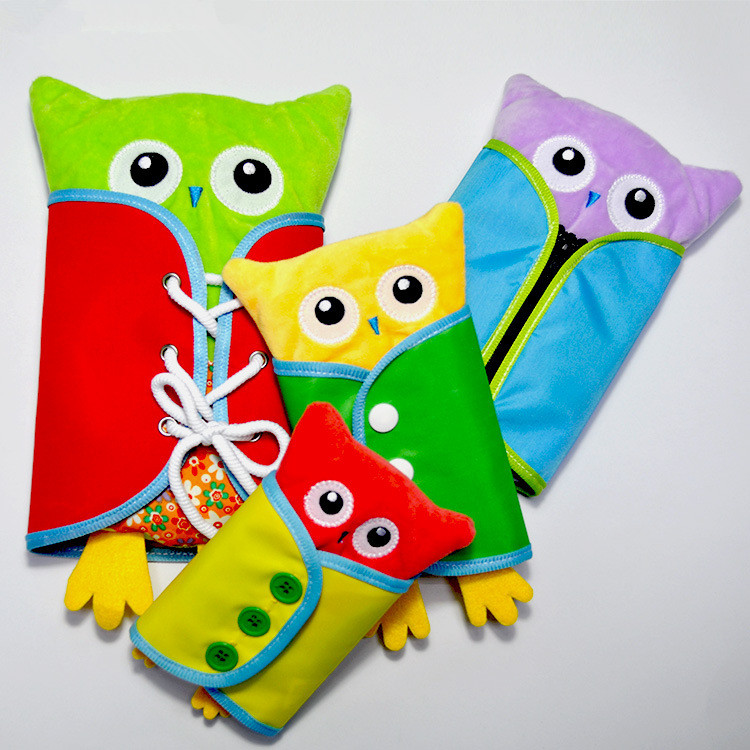4pcs/set Baby study Toy Montessori Dress Zip Snap Button Buckle Lace Tie Early Education Preschool Brinquedos Juguetes Book
