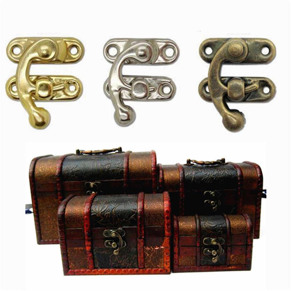 1PC נעילת נדנדה נדנדה תיק נועלים תיבת תפס סגירת חזה וו עם ברגים עבור ארגז כלים תכשיטי תיבת שרשרת מקרה