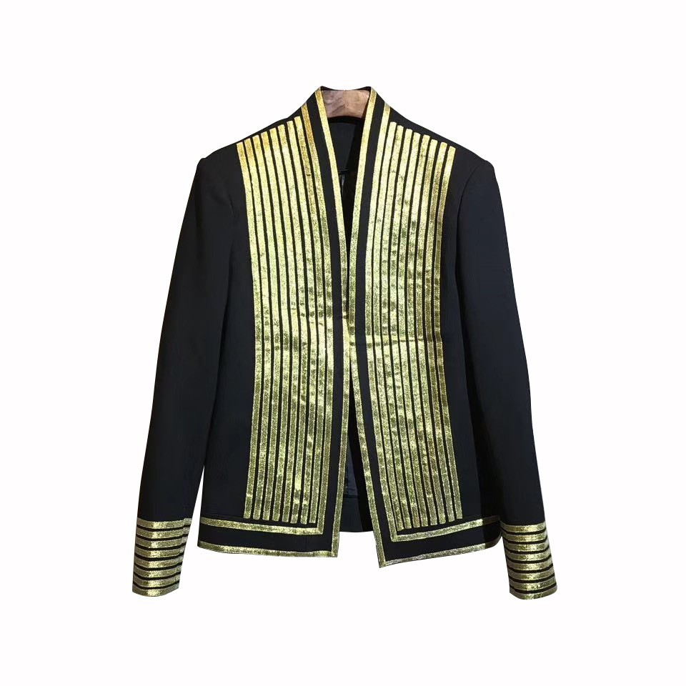 2019 Autumn Night Hairstyle Division Personality Loose Coat Jacket Tide Gold Surround Men Suit Coat Male Trend Blazers Man Suit