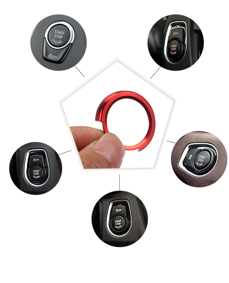Car styling aluminum dedicated a key to for BMW F30 316i 320i 328i F20 X4 start button decorative circle ignition coils Stickers