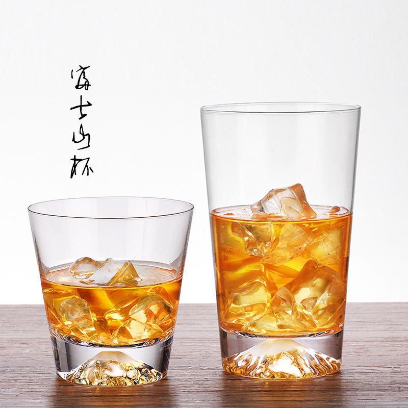 Japanese Mt Fuji creative glass, home lemon cups, lovers coffice cup, snow mountain cup, whisky cup,bar set ,drinkware