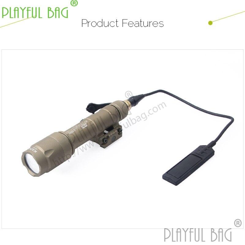 Extérieur CS jouet pistolet à eau trois trépied 20mm clip de piste avec queue ligne forte lumière lampe de poche LED noire sable couleur Z30