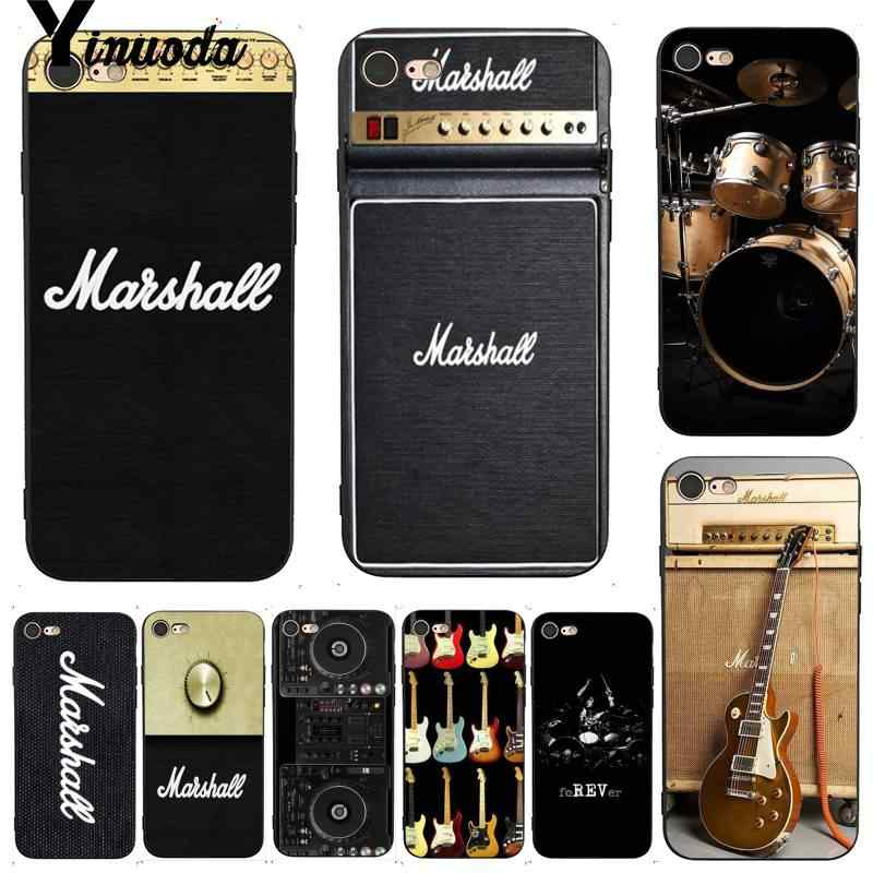 Yinuoda para iphone 7 6 X funda de guitarra Amp Marshall Drum caja colorida del teléfono de moda para iPhone 7 6X8 6S Plus X 5 5S SE 5C