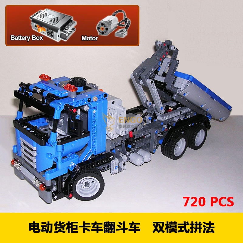 New 20027 technic series the Container Truck Model Building Blocks set compatible 8052 Classic car-styling toys for children decool 3345 technic city series mini container truck 119pcs building block educational toys for children compatible legoe