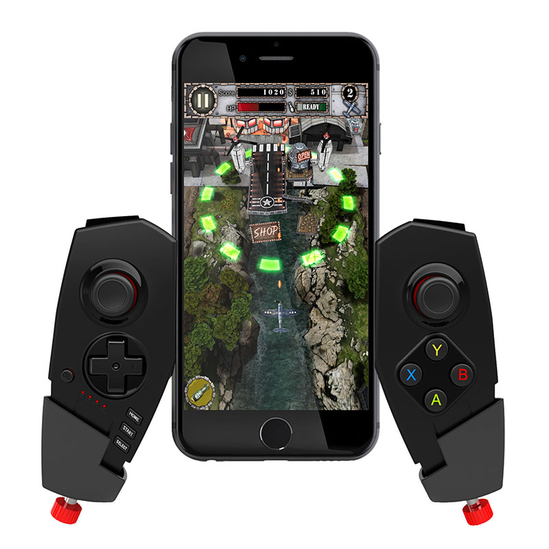 Telescopic Wireless Gamepad Bluetooth Gaming Controller for iPhone PC iOS Android Joypad ...