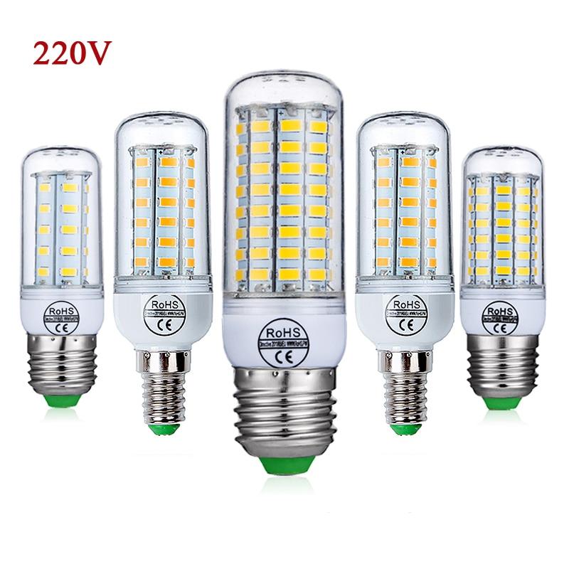 E27 LED Bulb E14 LED Lamp SMD5730 220V 230V Corn Bulb 24 36 48 56 69 72LEDs LED Light Chandelier Lighting  For Home Decoration 2pcs real full watt 3w 5w 7w 8w 12w 15w e27 e14 led corn bulb 85v 265v smd 5736 led lamp spot light 28 40 72 108 132 156 leds