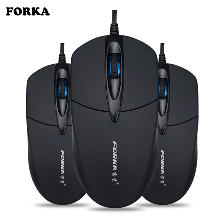 FORKA Silent Click USB Wired Computer Ergonomic Mouse Mute PC Computer Game Mouse Mice For PC Laptop Notebook Office Accessary