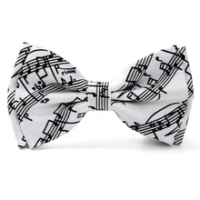 Unisex Music Note Butterfly Tie