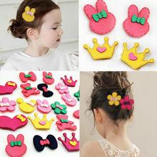 2pcs/set Girls Front post hairpin stickers clip fixed seamless velcro bangs tassel Baby hair patch tiara hair accessories ladys недорого