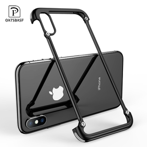 Image 1 - OATSBASF Airbag Metal Case For iPhone X Case Personality Airbag Shell for iPhone X Metal Bumper cover case with Gift Glass Film