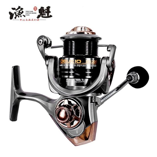 YUKUI High Speed Ratio 7.1:1 Metal Spinning Fishing Reel Fly Wheel For Fresh/Salt Water Sea Fishing Spinning Reel Carp Fishing