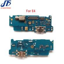 10 stks/partij USB Dock Poort Opladen Connector Board met Flex Kabel Voor Motorola Moto E4 Charger Port Flex Lint