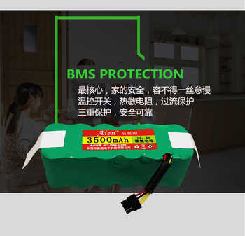 Direct deal 14.4V NI-MH 3500MAH Rechargeable Chargeable Batteries for sweeper power supply with free brushes