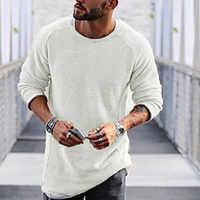 2019 nouveaux hommes à manches longues O cou mince noir blanc chaud pull de grande taille tricots de style décontracté vêtements arrivée automne hiver pull