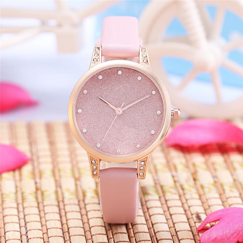 Izsmalcināts minimālisma zīmola modes sieviešu apģērbu pulkstenis Fantasy Small Dial sieviešu ādas kvarca pulkstenis