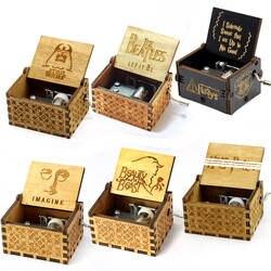 Креативный антикварный резной деревянный музыкальный ящик Игра престолов, красота и чудовище Рождественский подарок, подарок на Новый