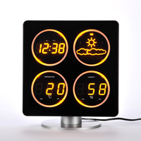 LED Screen Display Weather Forecast Temperature And Humidity Home Decoration Clock Silent Electronic Alarm Clock