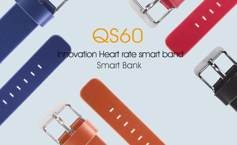 QS60 Heart Rate Measure Smart Wristband Bracele twith Breath Training Pedometer Sleep Tracker Smart Wrist Band with Touch Screen (1)