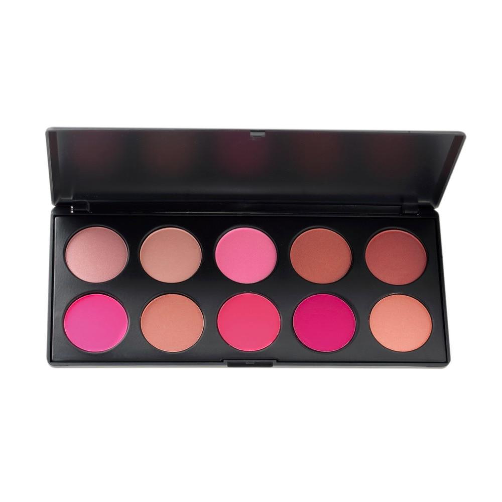 1set 10 Color Makeup Cosmetic Blush Blusher Powder Palette Face Care Blush Blusher Powder