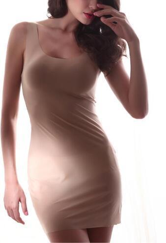 2017 nueva moda ropa de spandex resbalones de cuerpo completo para las mujeres intimates slip sexy mujeres ropa de noche negro rojo
