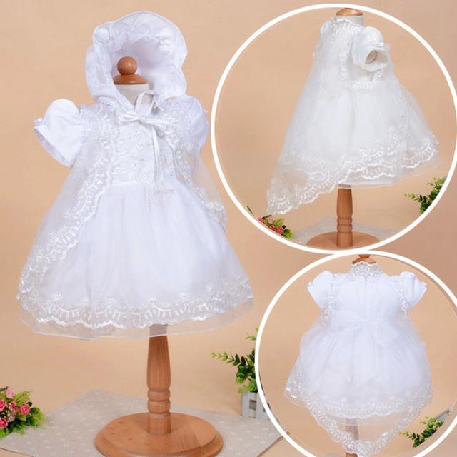 Moda encantadora 3 unidades set blanco lindo primer bebé dress de pascua para los niños