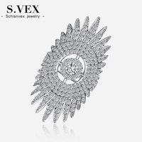 2016 Top Crystal Ring Korea Brand A M Style Rings Fashion Magazine Sun Flowers Jewelry For