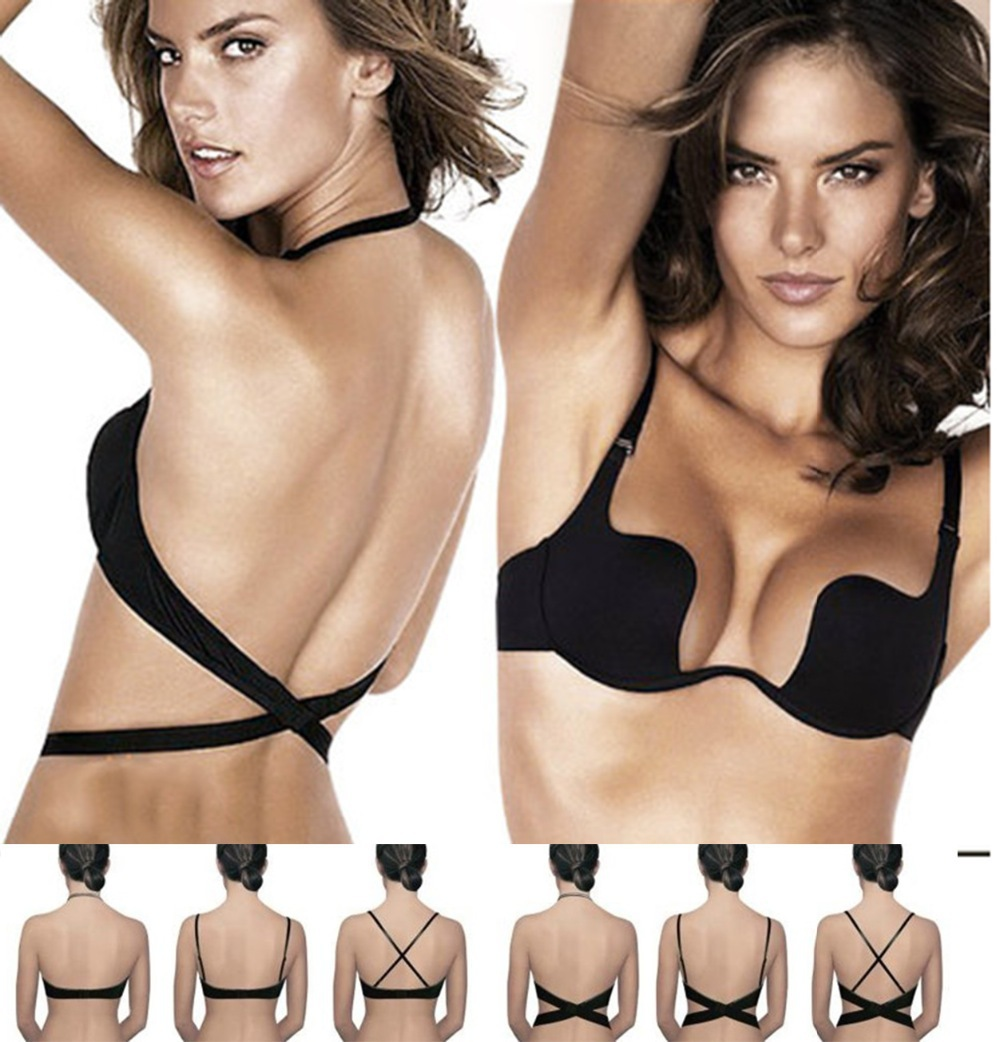 Aliexpress.com : Buy Push Up Bra Deep U Cut Bras for Women ...