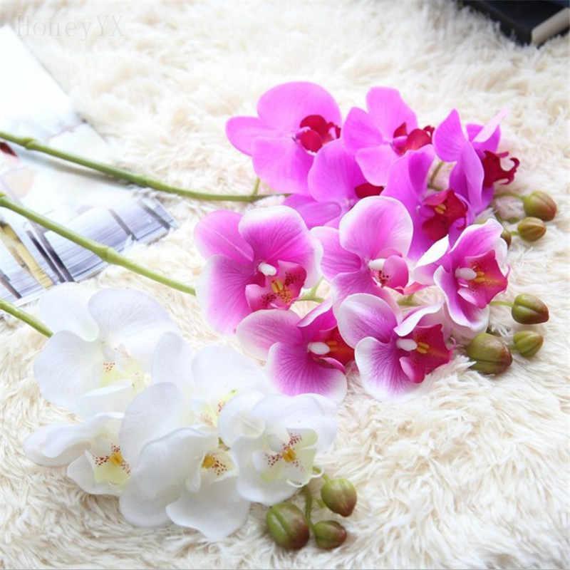 Hawaiian Orchid Artificial Flowers Wedding Bouquet Bridal Bouquets